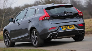 Volvo V40 T3 R-Design rear cornering