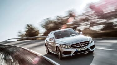 Mercedes C-Class 2014 silver tracking