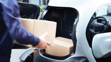Renault Twizy Cargo load space