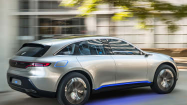 Mercedes EQ electric SUV - rear tracking