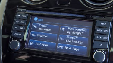 Used Nissan Note Mk2 - infotainment