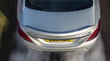Mercedes C63 AMG saloon - tyre smoke