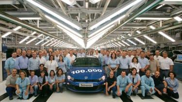 Volkswagen factory 100,000 Scirocco