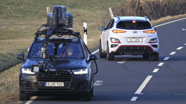 New 2021 Hyundai Kona N spied undisguised - rear