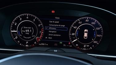 Volkswagen Arteon 1.5 petrol TSI dials