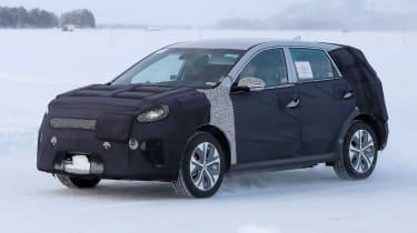 Kia Niro EV testing snow