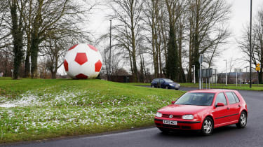 Giant football roundabout, Crawley