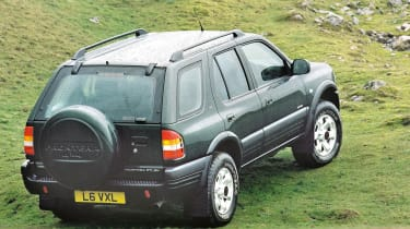 Top 10 worst cars - Vauxhall Frontera rear quarter 2