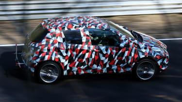 Toyota Yaris spies - side tracking far