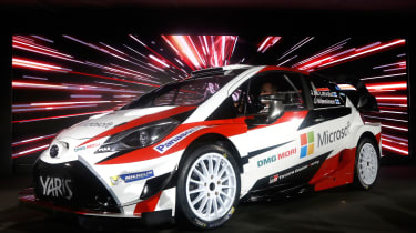 New Toyota Yaris WRC rally car - reveal front quarter