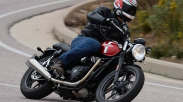 Triumph Street Twin review - left hand turn