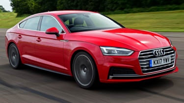 Twin test - Audi A5 - front action
