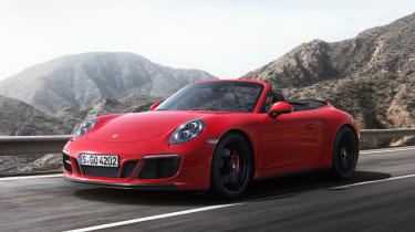 Porsche 911 Carrera 4 GTS Cabriolet - front action