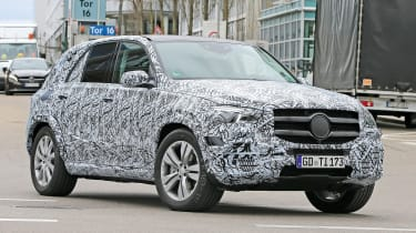 Mercedes GLE spied - front