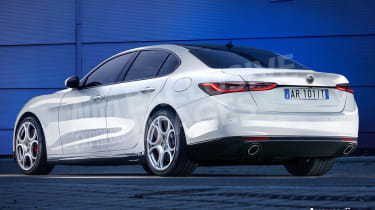 Alfa Romeo 5 Series rival exclusive image - rear watermarked
