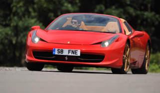 Ferrari 458 Spider front cornering