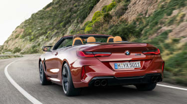 BMW M8 Competition Convertible - rear action