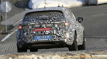 Cupra Leon - spied - front tracking