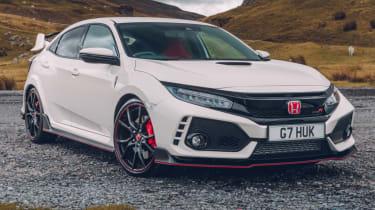 UK Honda Civic Type R 2017 - white front