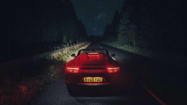 Porsche 911 Speedster - full rear night