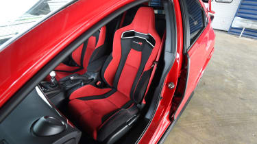 Honda Civic Type R long term - First Report front seats