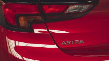 Vauxhall Astra 2019 facelift - rearlight