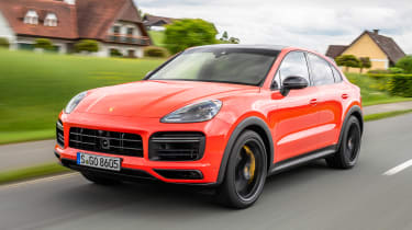 Porsche Cayenne Turbo Coupe - front action