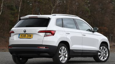 skoda karoq static rear