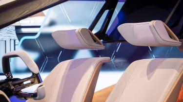 BMW HoloActive touch concept - headrests
