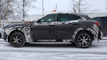 Maserati Levante GTS spy shot - side