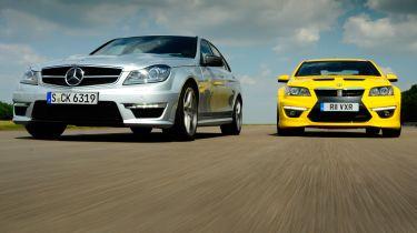 Mercedes C63 AMG vs Vauxhall VXR8 GTS