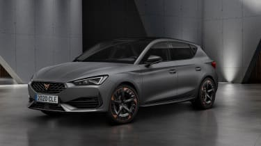 The Cupra version of the new SEAT Leon will get a choice of powertrains. That means 242bhp or 296bhp from the VW Group 2.0-litre turbo petrol engine or 242bhp from a 1.4-litre plug-in hybrid set-up. It'll be quick whichever way you go.