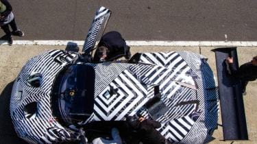 Brabham BT62 birds-eye view