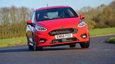 Ford Fiesta Sport Van cornering