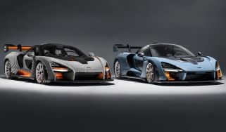 Lego McLaren Senna - with real Senna