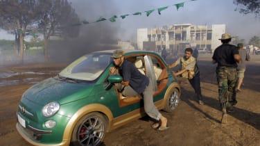 Muammar Gaddafi electric Abarth