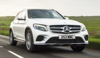 Mercedes GLC 250d front tracking cropped