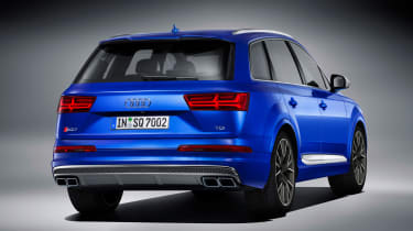 Audi SQ7 blue - rear quarter