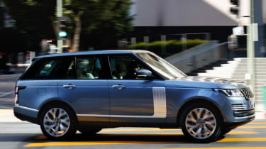 New Range Rover PHEV 2017 review - side turn