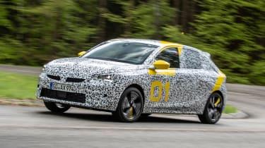Vauxhall Corsa prototype - front action