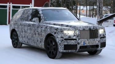 Rolls Royce cullinan suv spy shot