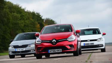 Renault Clio vs Volkswagen Polo vs Skoda Fabia - head-to-head