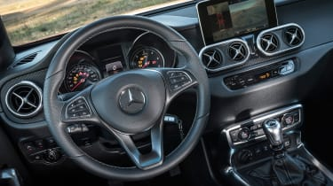 Mercedes X-Class pick-up truck - steering wheel