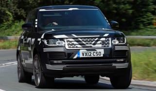 Range Rover front cornering