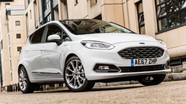 Ford Fiesta Vignale - front wheels turned