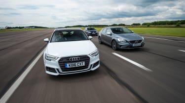 Audi A3 vs Volvo V40 vs Volkswagen Golf - header