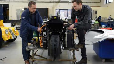 Morgan factory - three-wheel EV