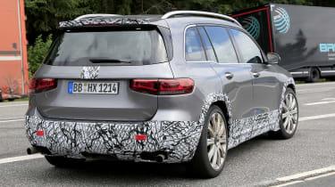 Mercedes-AMG GLB 45 - spied rear 3/4 tracking