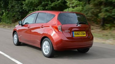 Used Nissan Note Mk2 - rear action