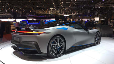 Pininfarina Battista at Geneva Motor Show 2019 grey rear